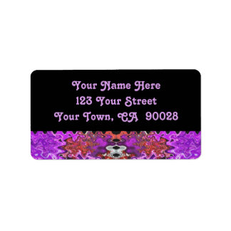 lila abstraktes adressaufkleber