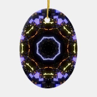 Lila abstraktes keramik ornament