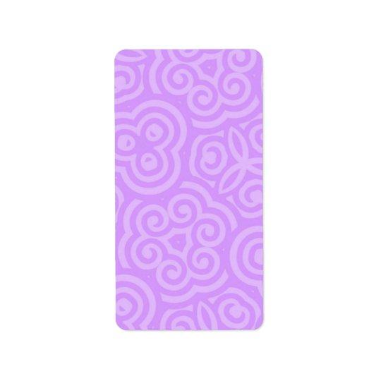 Lila abstraktes Muster Adressaufkleber
