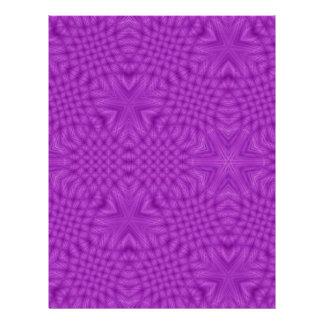 Lila abstraktes Muster 21,6 X 27,9 Cm Flyer