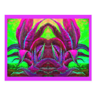 Lila Agaven-Wüsten-Geschenke durch Sharles Postkarte