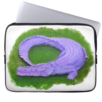 Lila Alligator/Florida-Krokodil Ägypten-Tier Laptopschutzhülle