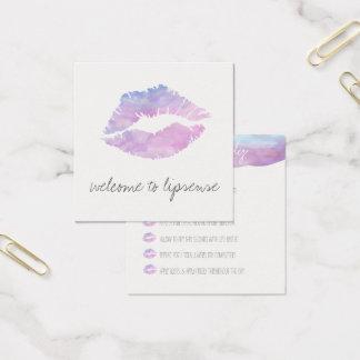 Lila Aquarell-Anwendungskarten Quadratische Visitenkarte
