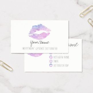 Lila Aquarell-Visitenkarten Visitenkarte