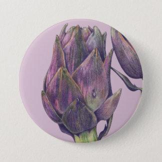 Lila Artischocken-lila runder Knopf Runder Button 7,6 Cm