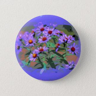 lila Asterknopf Runder Button 5,1 Cm