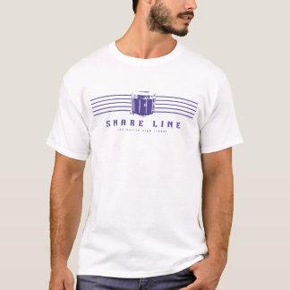 Lila auf weißem Snareline T-Stück T-Shirt