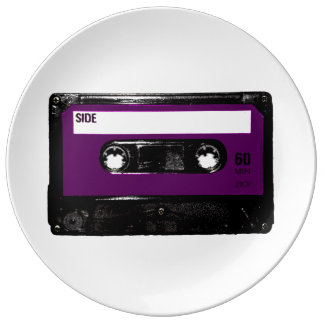 Lila Aufkleber-Kassette Teller Aus Porzellan