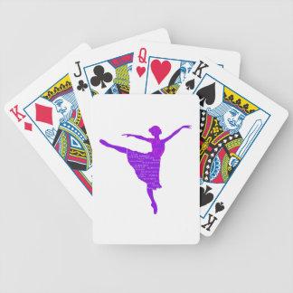 Lila Ballerina-Poker-Spielkarten Bicycle Spielkarten