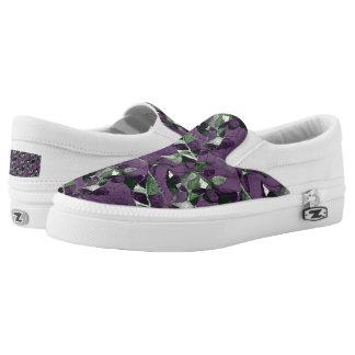 Lila Beeren u. Blätter Slip-On Sneaker