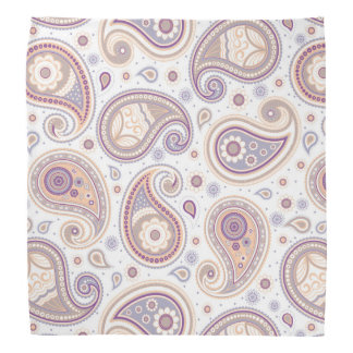 Lila Beige des Paisley-Musterbrauns Halstuch