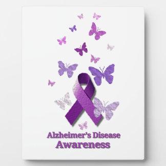 Lila Bewusstseins-Band: Alzheimerkrankheit Fotoplatte