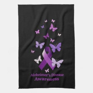 Lila Bewusstseins-Band: Alzheimerkrankheit Küchentuch