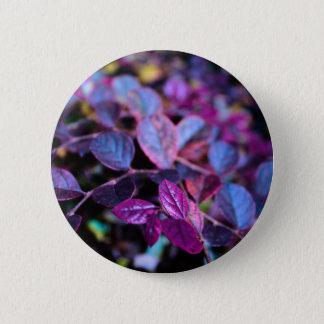 Lila Blätter Runder Button 5,1 Cm