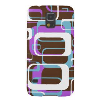 Lila Blau Retro geometrische Quadrat-Browns Samsung S5 Hüllen