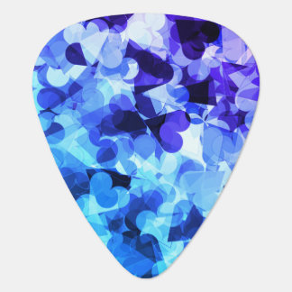 Lila blaue Kawaii Herzen Plektrum
