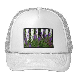 Lila blauer Blumen-Zaun Retro Cap