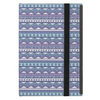 Lila blaues aztekisches stilvolles Powis iPad Etui Fürs iPad Mini