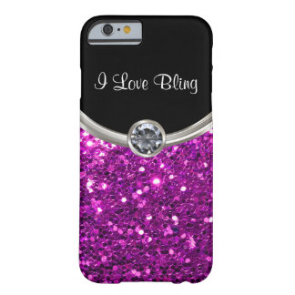 Lila Bling Art Barely There iPhone 6 Hülle