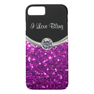 Lila Bling Art iPhone 7 Hülle
