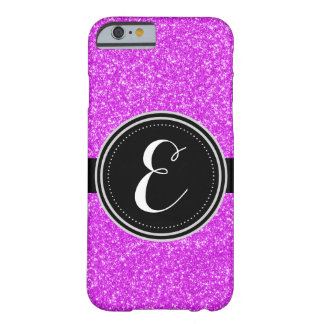 Lila Bling Glitter personalisierter Iphone Fall Barely There iPhone 6 Hülle