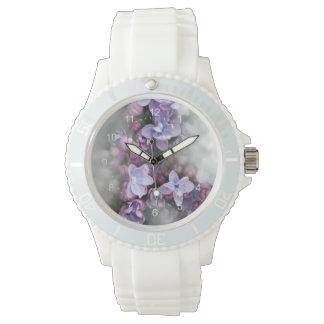 Lila Blühen Uhr