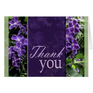 Lila Blume danken Ihnen zu kardieren Karte