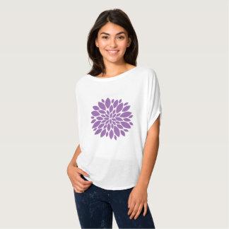 Lila Blume Mandala-Art   spitze T-Shirt