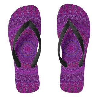 Lila Blume Mandala Flip Flops