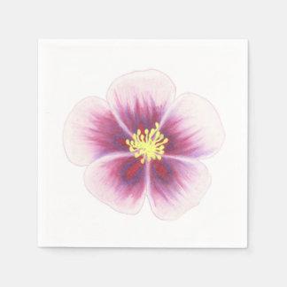 Lila Blume Papierserviette