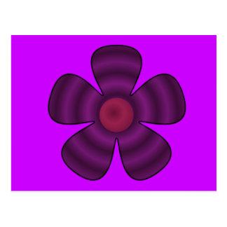 lila Blume Postkarte