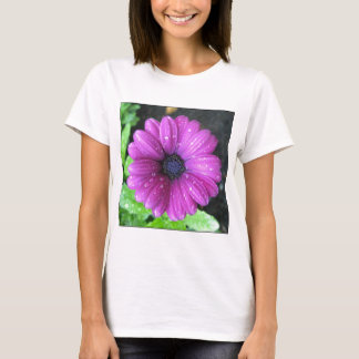 Lila Blume T-Shirt