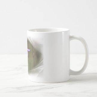 Lila Blume Kaffee Tasse