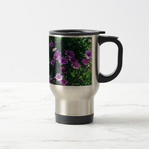 Lila Blumen 2 Tee Tasse