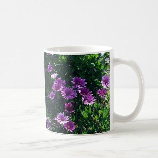 Lila Blumen 2 Tee Tassen