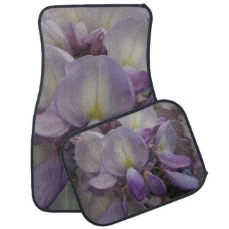Lila Blumen-Auto-Boden-Matten (volles Set) Autofußmatte