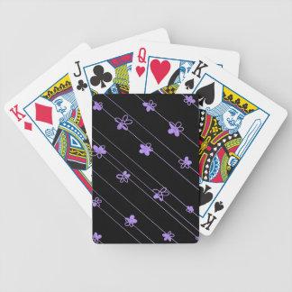 Lila Blumen Bicycle® Poker-Spielkarten Bicycle Spielkarten