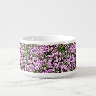 Lila Blumen-Chili-Schüssel Kleine Suppentasse