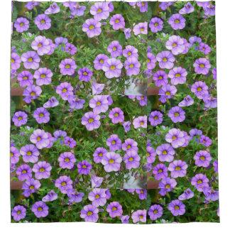 Lila Blumen Duschvorhang