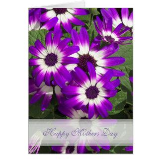 Lila Blumen-glückliche Mutter-Tageskarte Grußkarte