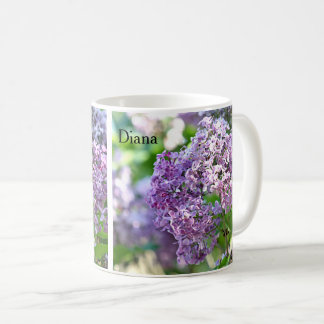 Lila Blumen Kaffeetasse