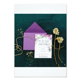 lila Blumen Karte