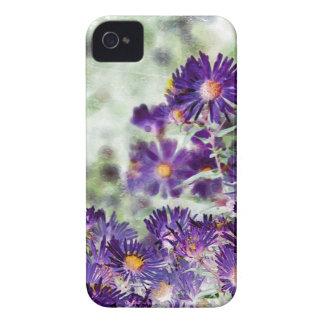Lila Blumen-Kunst-BlackBerry-mutiger Kasten iPhone 4 Hüllen