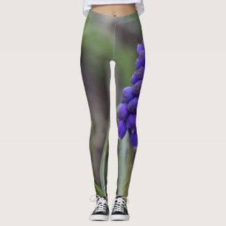 Lila Blumen Leggings