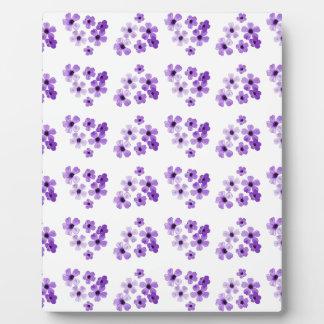 Lila Blumen-Muster Fotoplatte