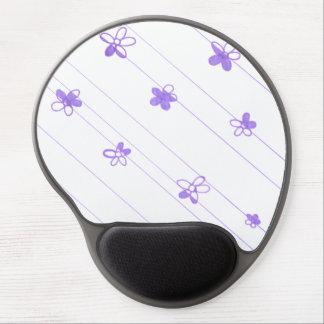 Lila Blumen-Mustergel-Mausunterlage Gel Mousepad