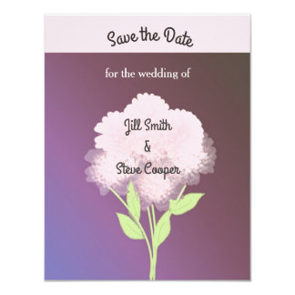 Lila Blumen Save the Date Karte