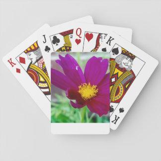 Lila Blumen-Spielkarten Spielkarten