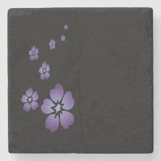 Lila Blumen Steinuntersetzer
