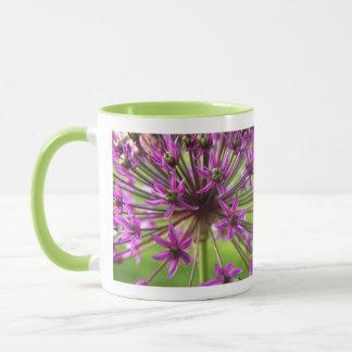 Lila Blumen-Tasse Tasse